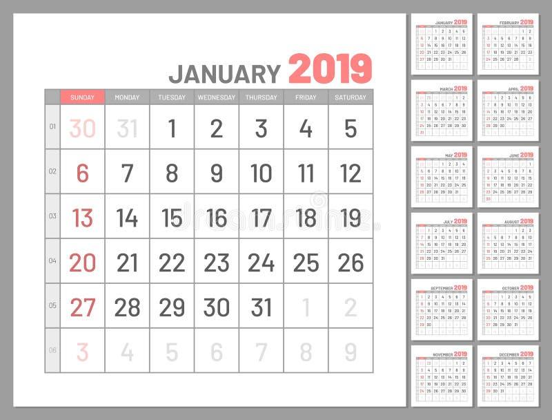 Καθορισμένοι αρμόδιοι για το σχεδιασμό, τον Ιανουάριο του 2019, δώδεκα μήνες, επίπεδοι απεικόνιση αποθεμάτων