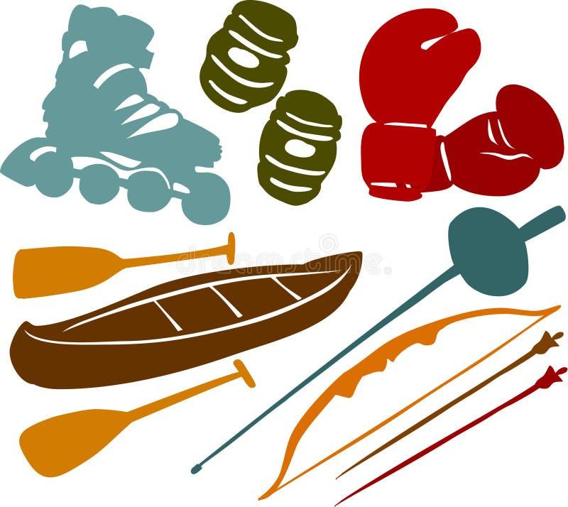 καθορισμένος αθλητισμό&sigm απεικόνιση αποθεμάτων