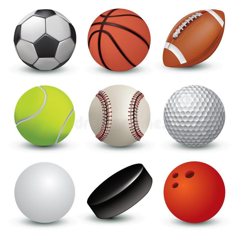 καθορισμένος αθλητισμός σχεδίου σφαιρών εσείς απεικόνιση αποθεμάτων