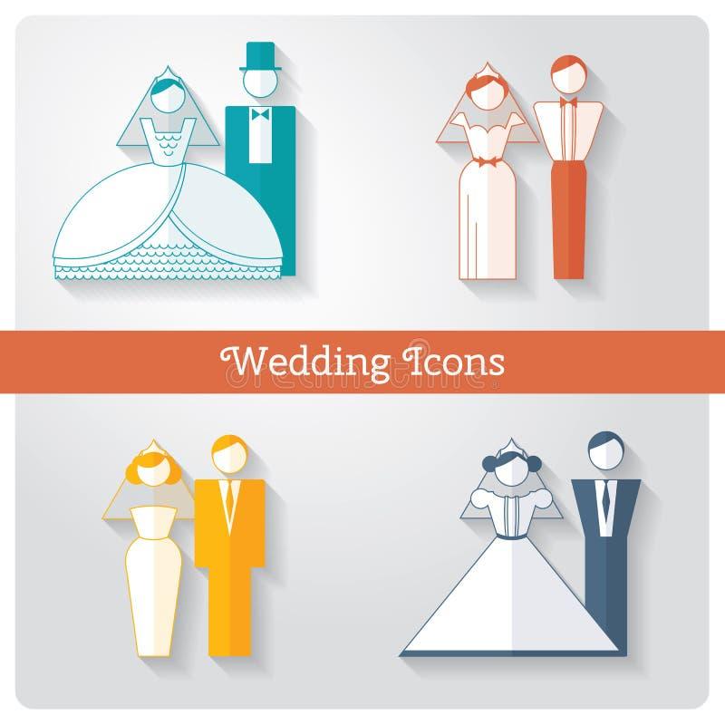 1 καθορισμένος γάμος μερών εικονιδίων ελεύθερη απεικόνιση δικαιώματος