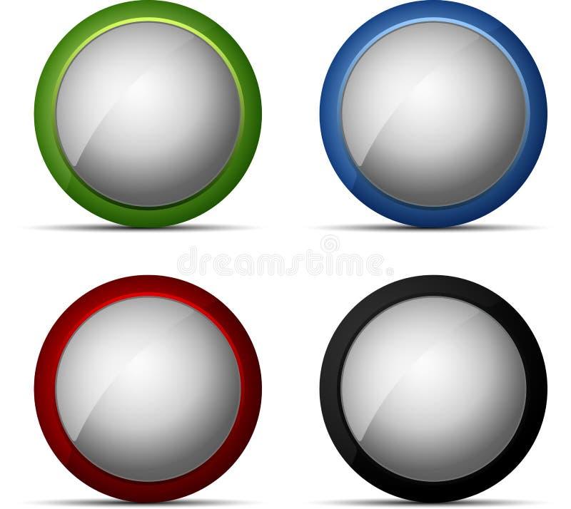καθορισμένος Ιστός χρώματος κουμπιών απεικόνιση αποθεμάτων