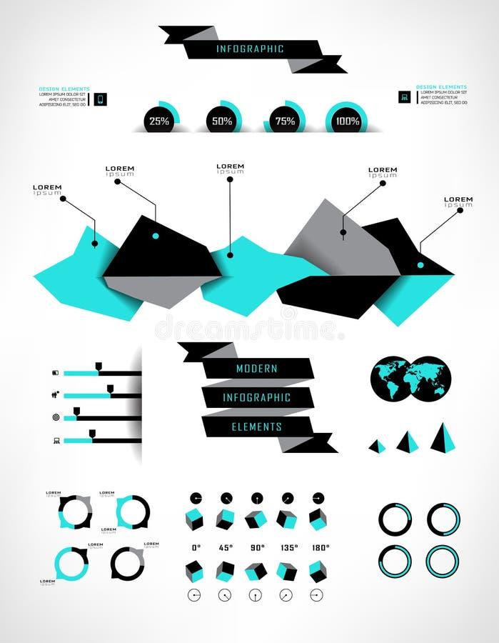 καθορισμένος κόσμος χαρτών πληροφοριών infographics γραφικής παράστασης στοιχείων ελεύθερη απεικόνιση δικαιώματος