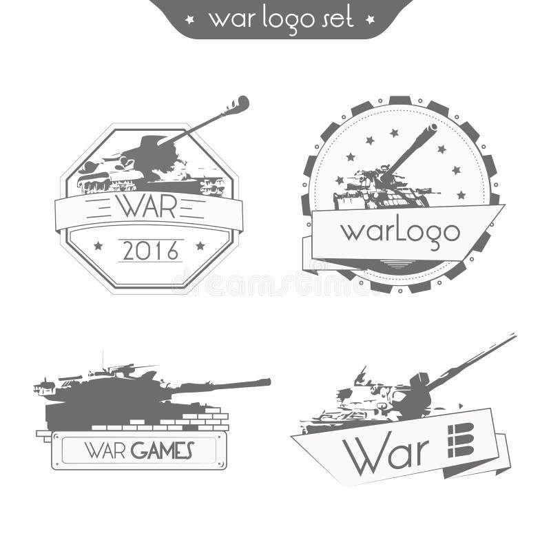 Καθορισμένος ΠΟΛΕΜΟΣ λογότυπων διανυσματική απεικόνιση