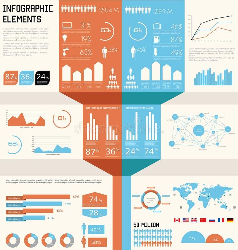 καθορισμένος τρύγος infographics απεικόνιση αποθεμάτων