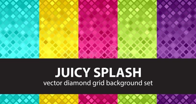 Καθορισμένος Juicy παφλασμός σχεδίων διαμαντιών ελεύθερη απεικόνιση δικαιώματος