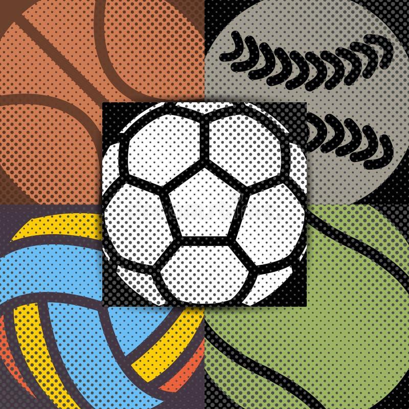 Καθορισμένο αθλητικό υπόβαθρο, διανυσματική απεικόνιση διανυσματική απεικόνιση