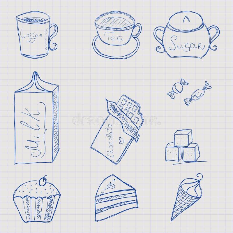 καθορισμένο γλυκό τροφίμ& απεικόνιση αποθεμάτων