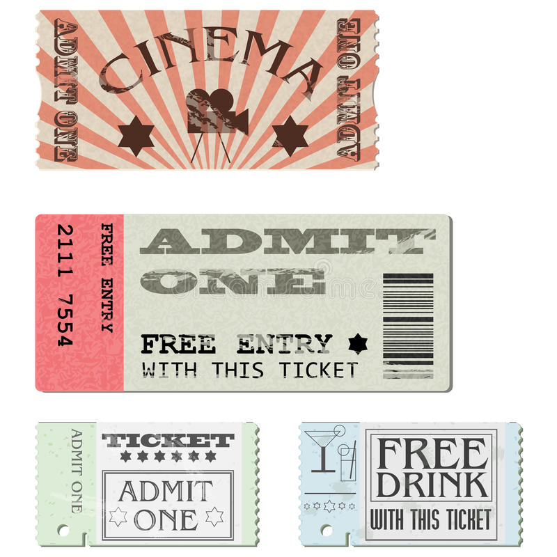 καθορισμένο διάνυσμα εισιτηρίων ελεύθερη απεικόνιση δικαιώματος