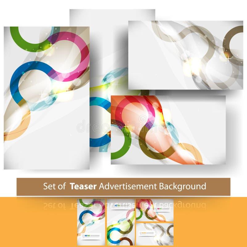 καθορισμένο διάνυσμα πειρακτηρίων ανασκόπησης διαφημίσεων διανυσματική απεικόνιση