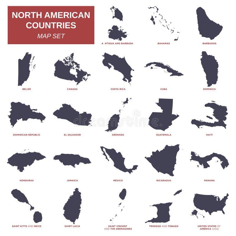 Καθορισμένο διανυσματικό σχέδιο απεικόνισης προτύπων χαρτών της Βόρειας Αμερικής απεικόνιση αποθεμάτων