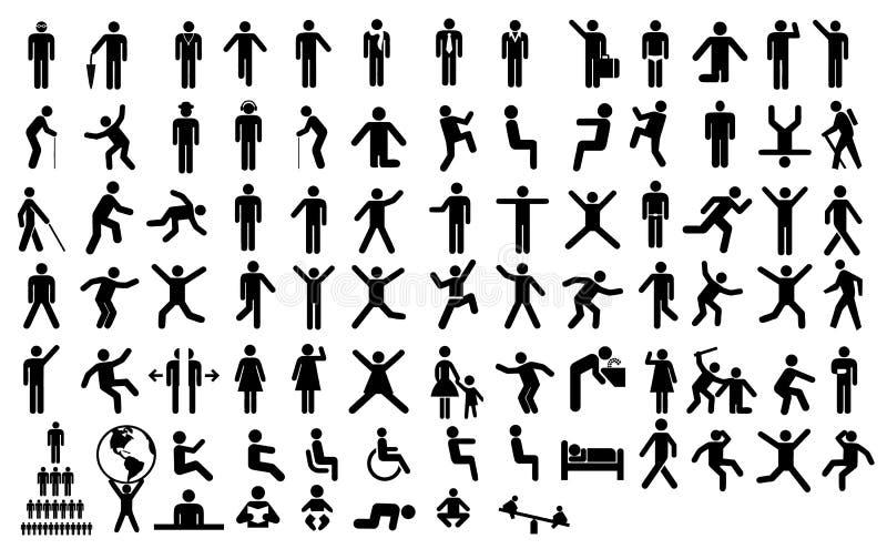 Καθορισμένο εικονόγραμμα ανθρώπων στοκ φωτογραφία με δικαίωμα ελεύθερης χρήσης