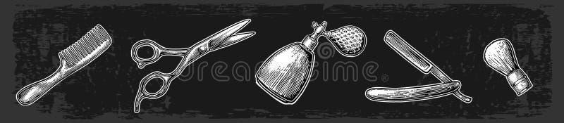Καθορισμένο εργαλείο για BarberShop απεικόνιση αποθεμάτων