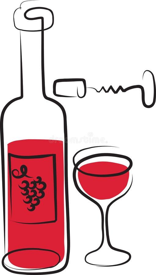 καθορισμένο κρασί 2 απεικόνιση αποθεμάτων