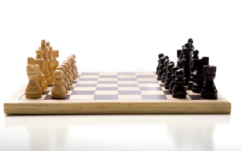 καθορισμένο λευκό σκακ στοκ φωτογραφίες