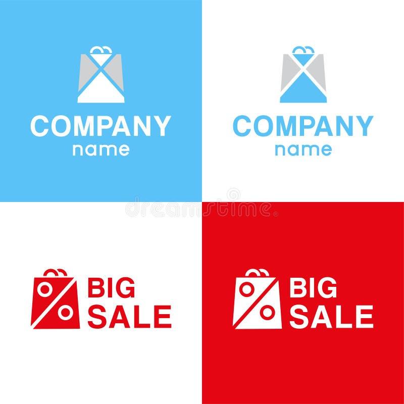 Καθορισμένο λογότυπο της μεγάλης πώλησης διανυσματική απεικόνιση