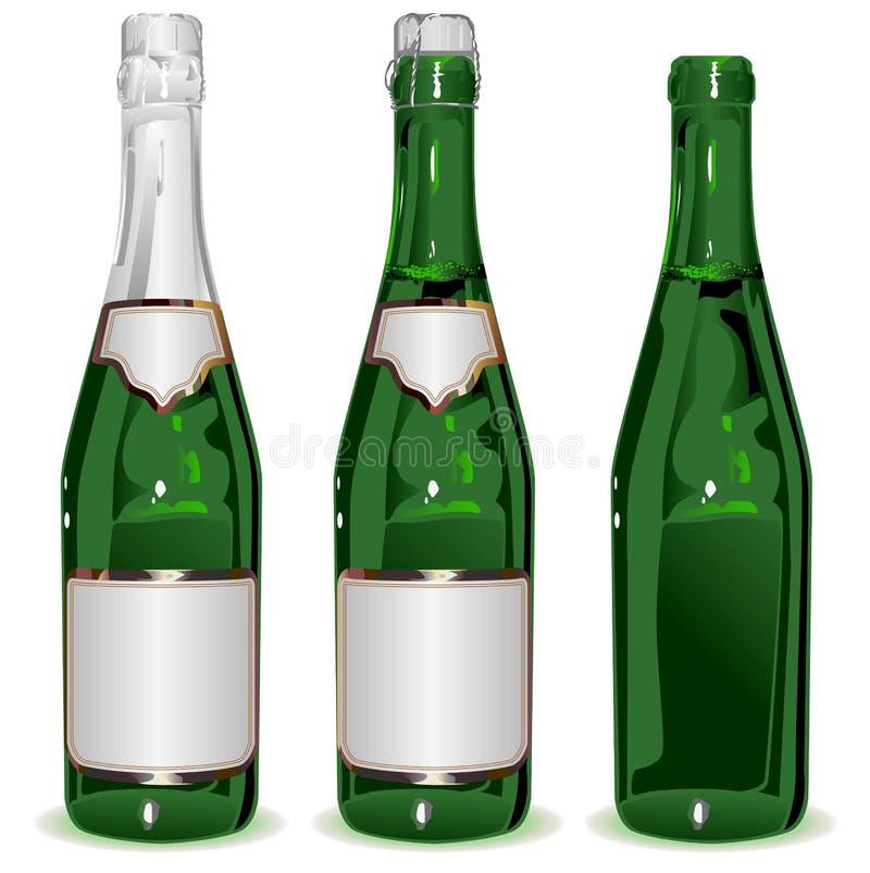 Καθορισμένο μπουκάλι CHAMPAGNE ελεύθερη απεικόνιση δικαιώματος