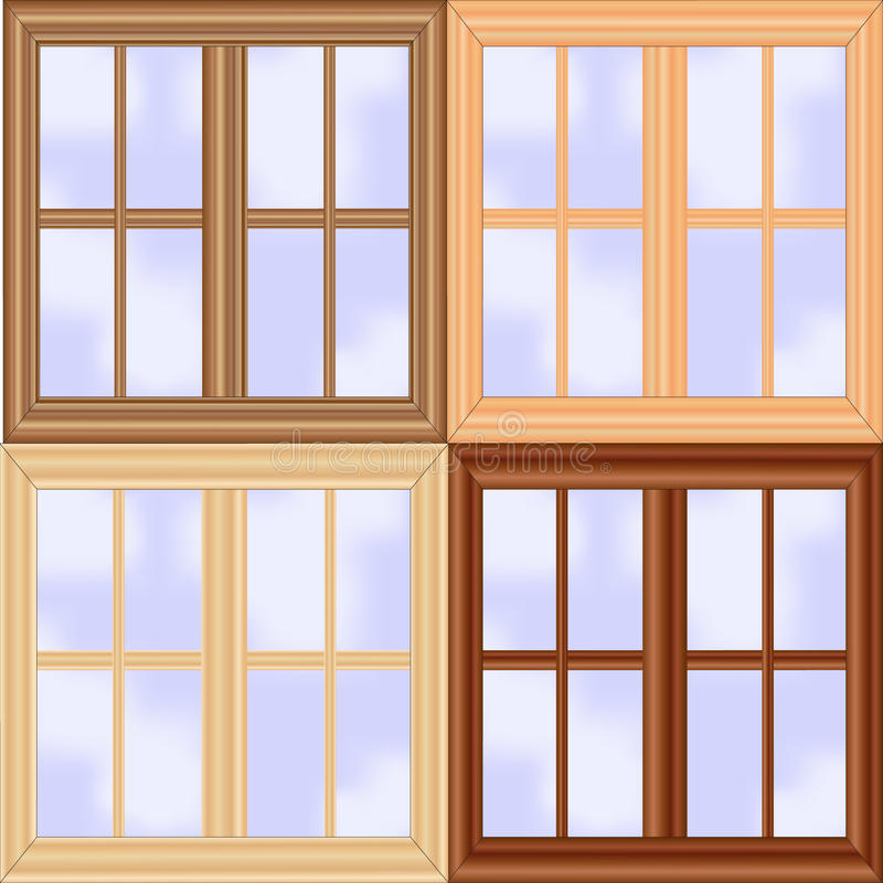 καθορισμένο παράθυρο ξύλ&i διανυσματική απεικόνιση
