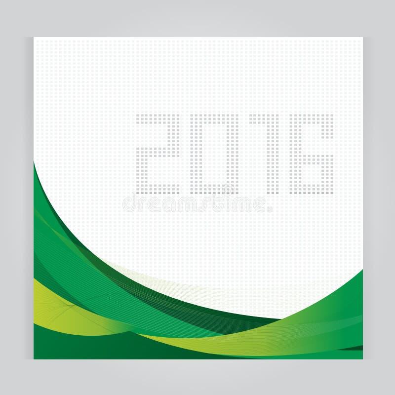 Καθορισμένο πρότυπο ημερολογιακού 2016 διανυσματικό σχεδίου Η εβδομάδα αρχίζει πράσινο ελεύθερη απεικόνιση δικαιώματος