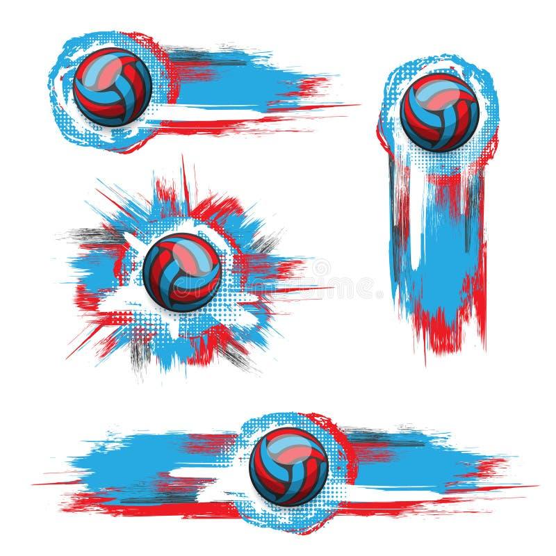 Καθορισμένο υπόβαθρο σφαιρών χρώματος grunge διανυσματική απεικόνιση