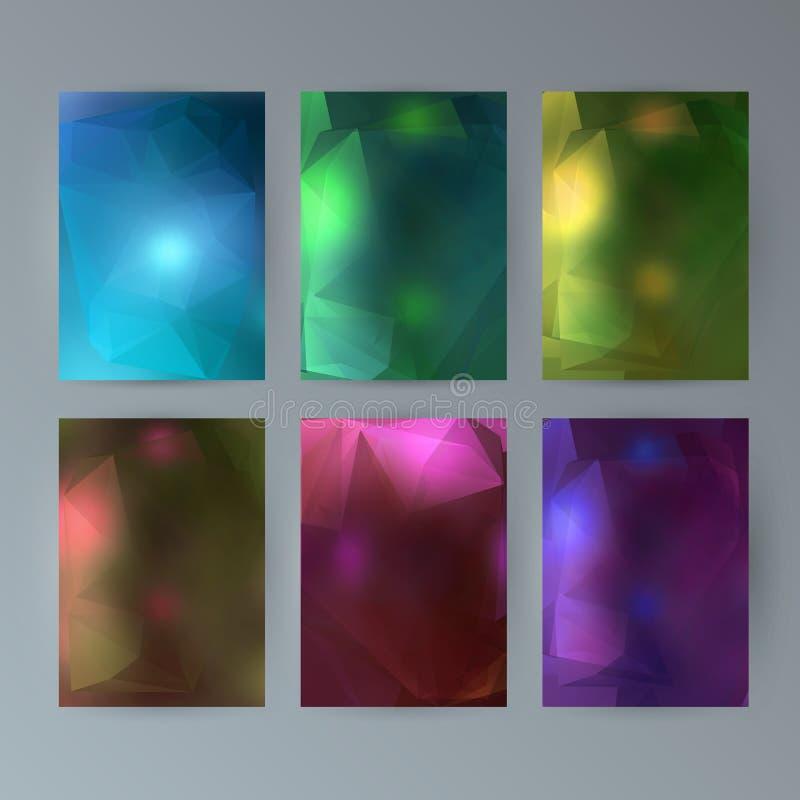 Καθορισμένο υπόβαθρο σύγχρονο μουτζουρωμένο design23 ιπτάμενων διανυσματική απεικόνιση