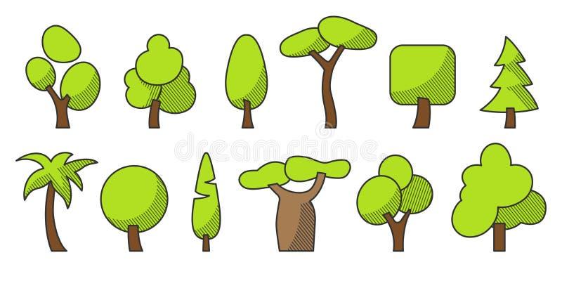 Καθορισμένο χρώμα δέντρων ένα α στοκ εικόνες