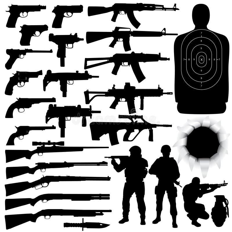 καθορισμένο όπλο ελεύθερη απεικόνιση δικαιώματος