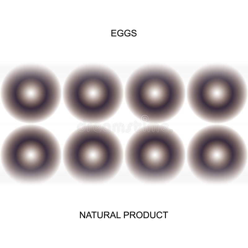 Καθορισμένο cvadro αυγών ορτυκιών ελεύθερη απεικόνιση δικαιώματος
