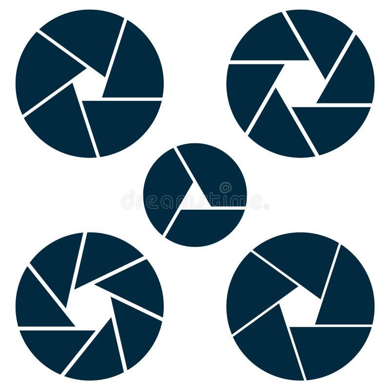 Καθορισμένο diafragma, άνοιγμα στο διάνυσμα Απομονώστε το μέρος φακών στο άσπρο BA ελεύθερη απεικόνιση δικαιώματος