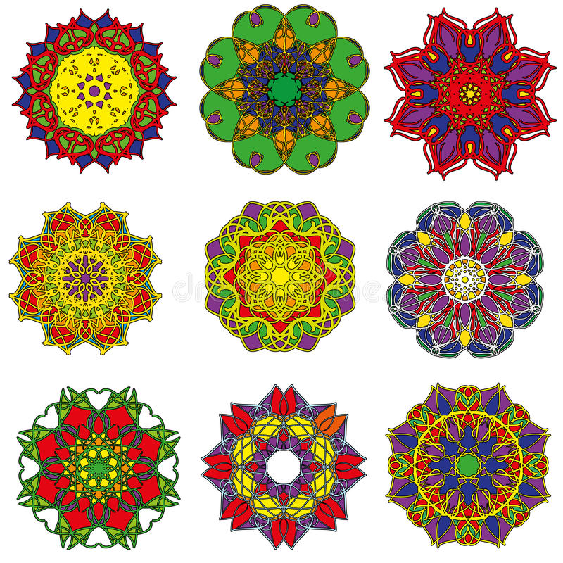 καθορισμένο mandala στοκ φωτογραφίες