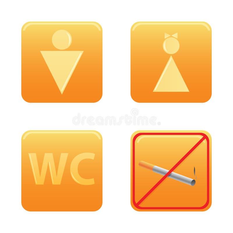 καθορισμένο WC εικονιδίων ελεύθερη απεικόνιση δικαιώματος