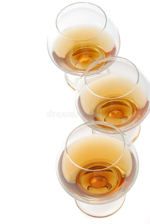 καθορισμένο wineglass κονιάκ στοκ εικόνες με δικαίωμα ελεύθερης χρήσης
