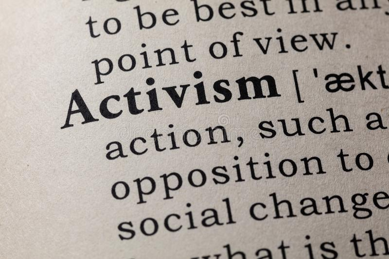 Καθορισμός του ακτιβισμού στοκ εικόνες