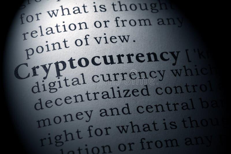 Καθορισμός του cryptocurrency στοκ εικόνα με δικαίωμα ελεύθερης χρήσης