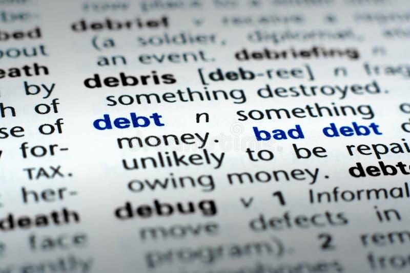 καθορισμός χρέους στοκ φωτογραφίες