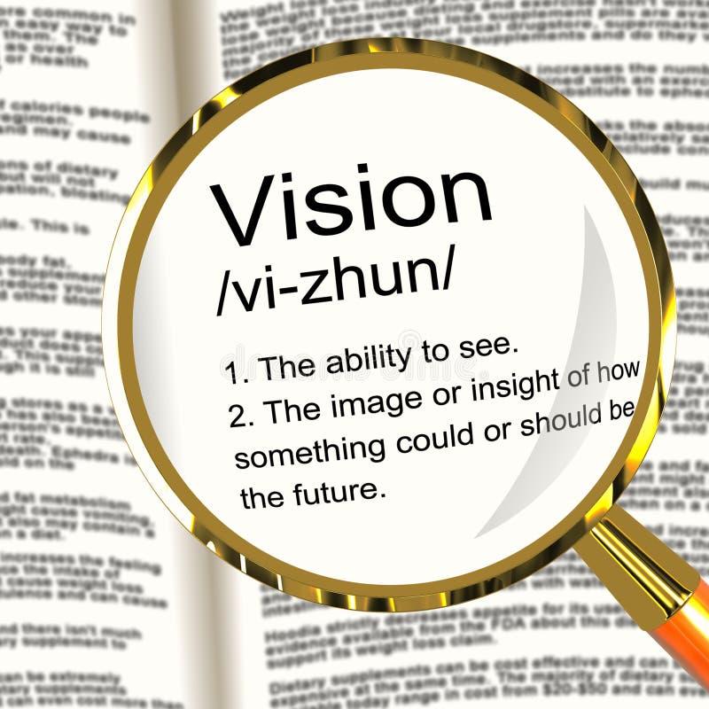Καθορισμός Magnifier οράματος που εμφανίζει την όραση ή μελλοντικούς στόχους ελεύθερη απεικόνιση δικαιώματος