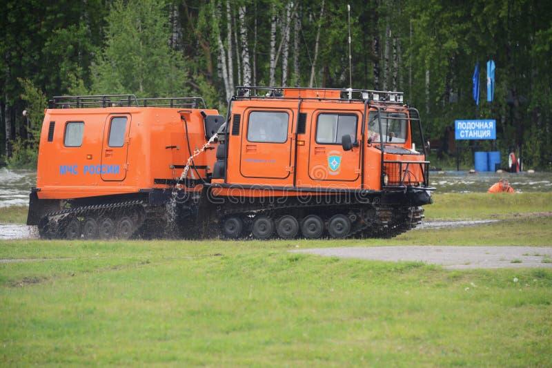 Καθολικός κινητός σύνθετος για τη διάσωση και την προσβολή του πυρός τοποθετεί δύσκολο να επιτευχθεί στο κέντρο διάσωσης Noginsk στοκ φωτογραφία με δικαίωμα ελεύθερης χρήσης