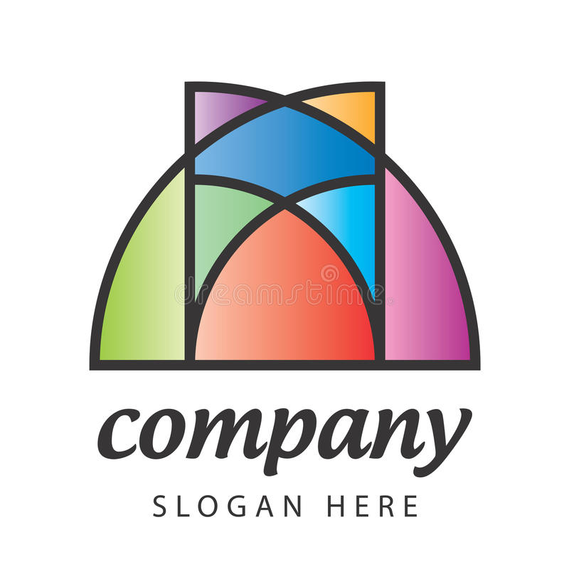 Stained-glass λογότυπο απεικόνιση αποθεμάτων