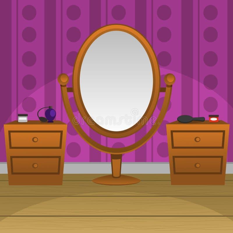 καθρέφτης αναδρομικός διανυσματική απεικόνιση