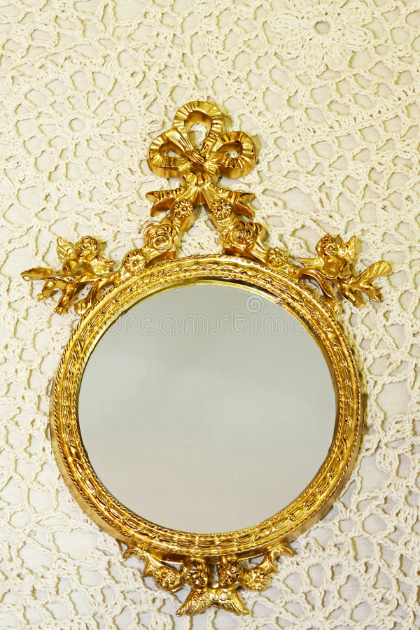 καθρέφτης δαντελλών στοκ φωτογραφία
