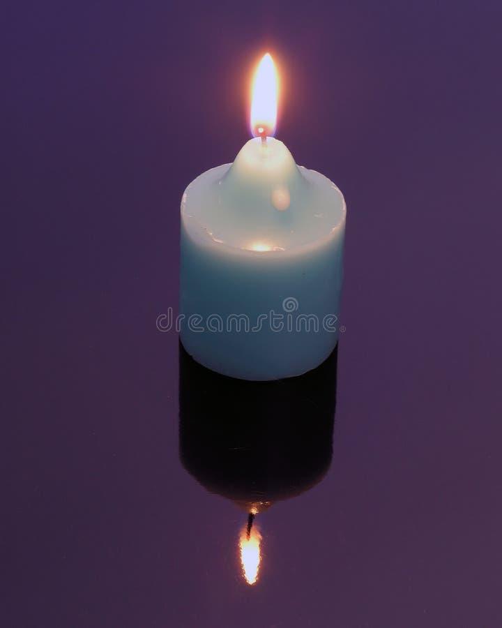 καθρέφτης εικόνας κεριών Στοκ φωτογραφία με δικαίωμα ελεύθερης χρήσης
