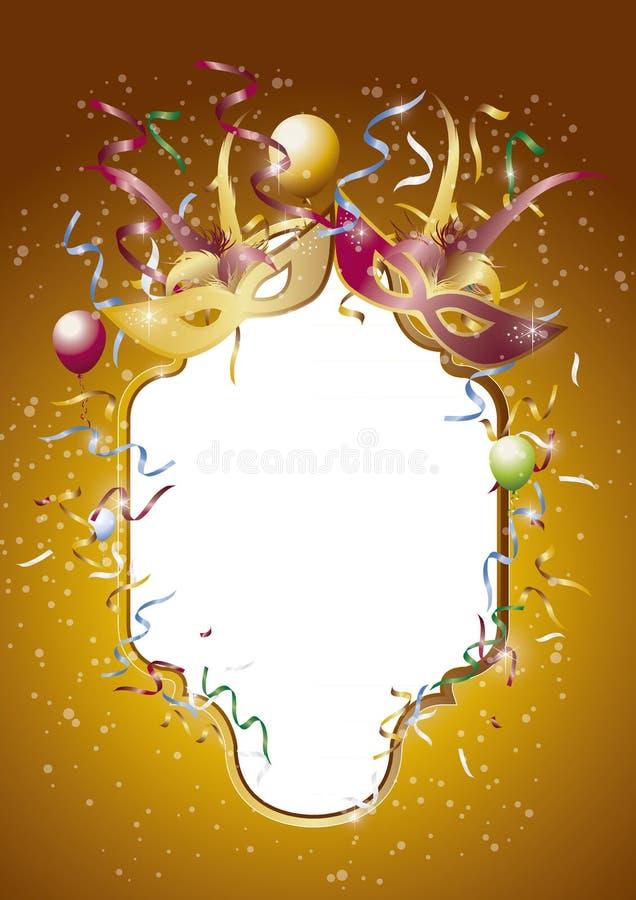 Καθρέφτης 1 καρναβαλιού ελεύθερη απεικόνιση δικαιώματος