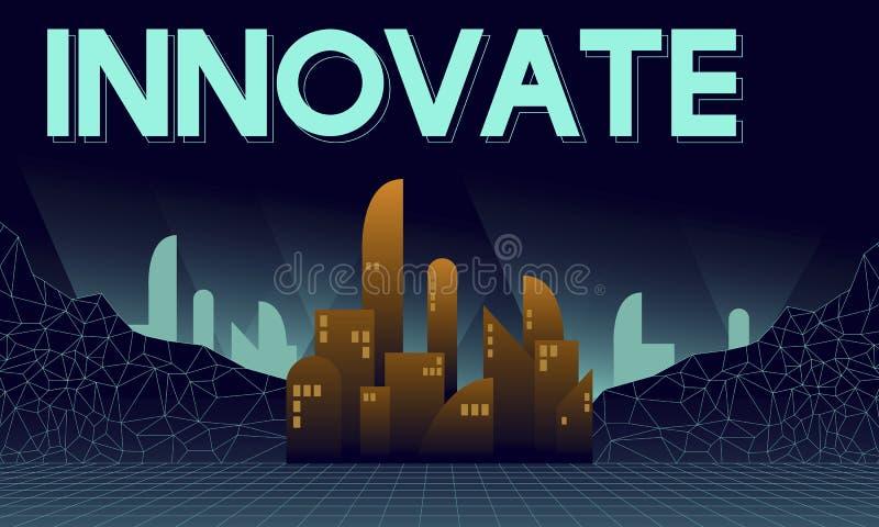 Καινοτομήστε καινοτόμος έννοια δομών ουρανοξυστών αρχιτεκτονικής ελεύθερη απεικόνιση δικαιώματος