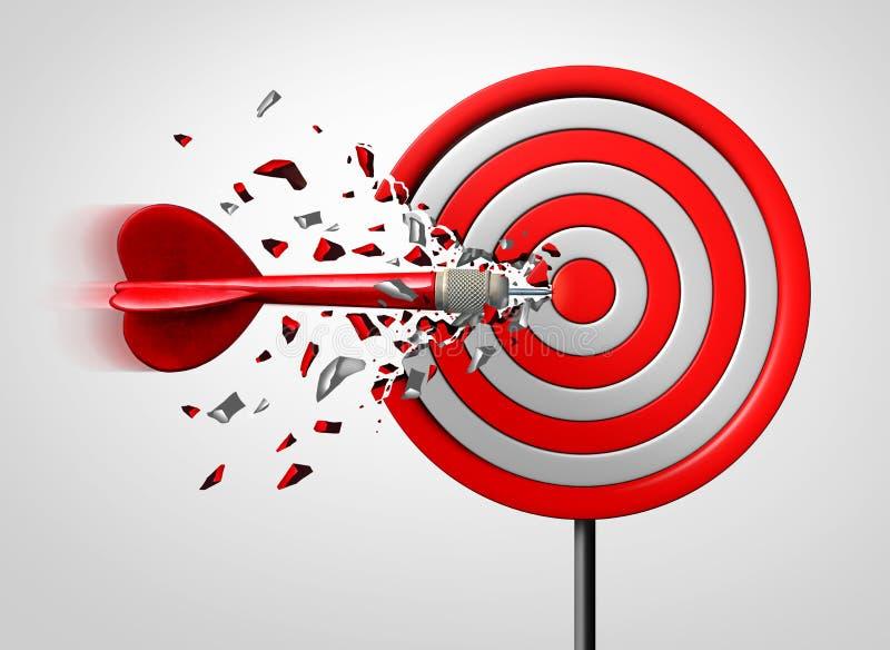Καινοτόμος στρατηγική στόχου διανυσματική απεικόνιση
