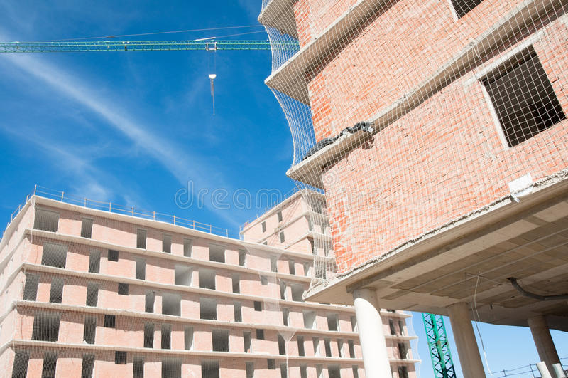 Καινούργιο σπίτι κάτω από την κατασκευή, Ισπανία στοκ φωτογραφίες με δικαίωμα ελεύθερης χρήσης