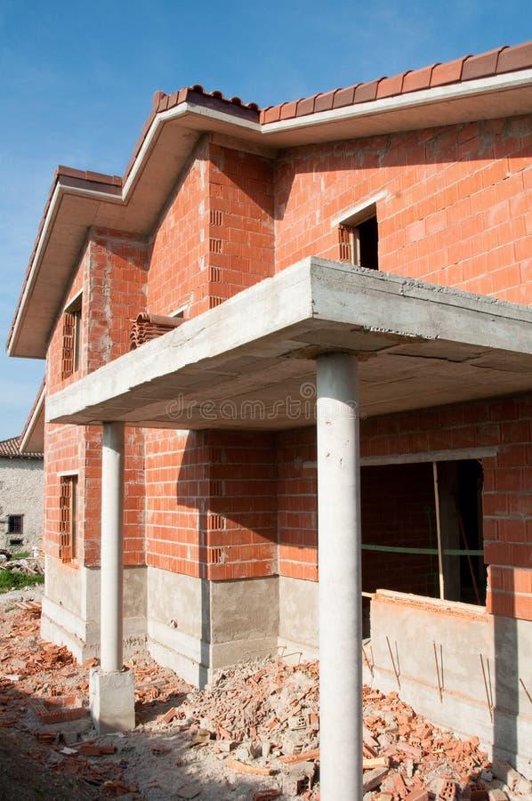 Καινούργιο σπίτι κάτω από την κατασκευή στοκ εικόνες