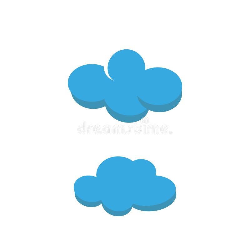 Καιρικό απομονωμένο σύννεφο εικονίδιο απεικόνιση αποθεμάτων
