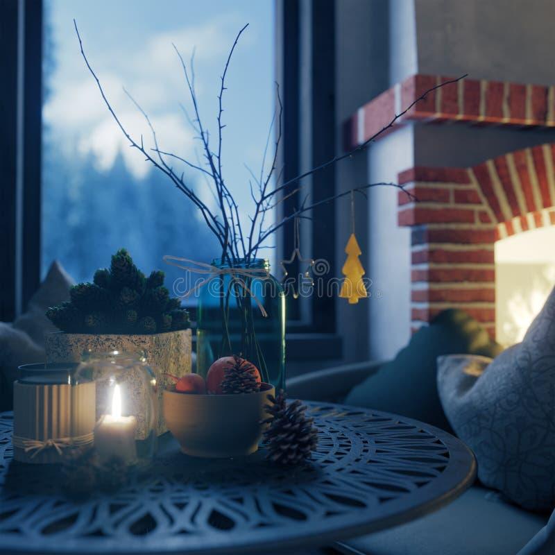 Και σύνθεσης κινηματογραφήσεων σε πρώτο πλάνο υποβάθρου Χριστουγέννων φωτογραφία καλής χρονιάς και έτους σύνθεσης κινηματογραφήσε στοκ εικόνες με δικαίωμα ελεύθερης χρήσης