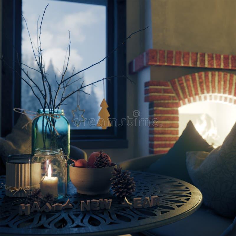 Και σύνθεσης κινηματογραφήσεων σε πρώτο πλάνο υποβάθρου Χριστουγέννων φωτογραφία καλής χρονιάς και έτους σύνθεσης κινηματογραφήσε στοκ φωτογραφία