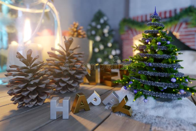 Και σύνθεσης κινηματογραφήσεων σε πρώτο πλάνο υποβάθρου Χριστουγέννων φωτογραφία καλής χρονιάς και έτους σύνθεσης κινηματογραφήσε στοκ φωτογραφίες