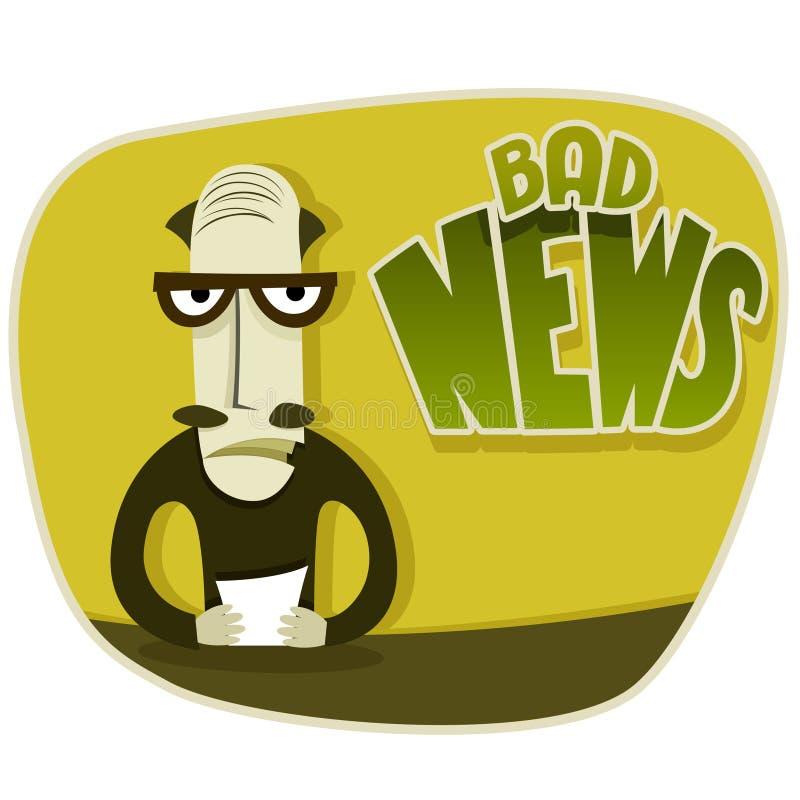Κακές ειδήσεις απεικόνιση αποθεμάτων